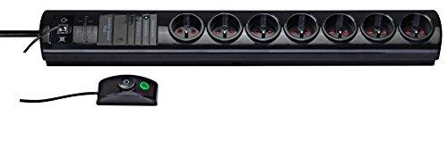 Brennenstuhl Primera Tec Steckdosenleiste (7-fach, mit externem Schalter, 2 m, H05VV-F 3G1,5), schwarz, 1153301417 -