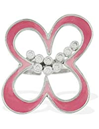 Aastha Jain Pink Enamel Sterling Silver Ring for Women