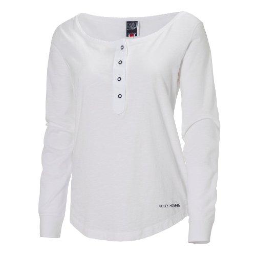 Helly Hansen W Skagen Boat Neck LS T-Shirt pour femme, blanc blanc