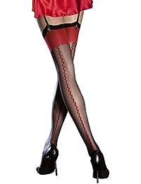 4dfec34056c Fiore Luxury 20 Denier Sheer Seamed Stockings