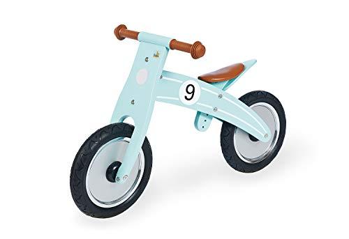 Pinolino Laufrad Nico, Laufrad Holz, unplattbare Bereifung, umbaubar vom Chopper zum Laufrad, empfohlen ab 2 Jahren, mint