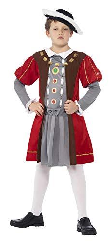 Viii Kinder Henry Kostüm - Smiffys 27129M - Horrible Histories Henry VIII Kostüm mit verziertem Tunika und Hut, braun