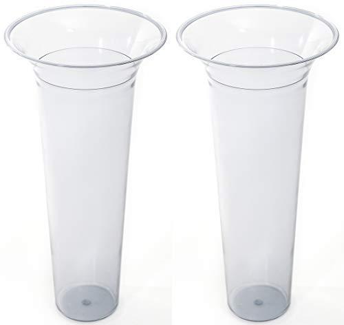 Novaliv Bodenvaseneinsatz 31,5x15 Kunststoffeinsatz für Bodenvase (2, 31,5x15) -