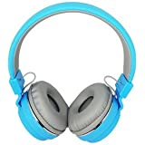 Prosmart - Wireless Bluetooth Headphone With FM And SD Card Slot With Music And Calling Controls For IPhone And Android Smartphones (Blue, Grey)