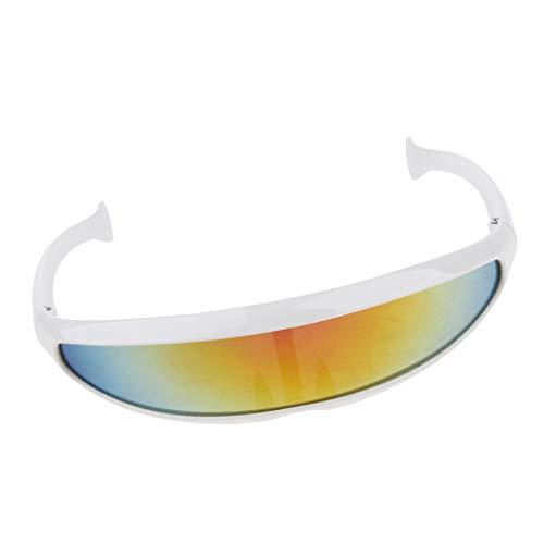 Baoblaze Herren verspiegelt Sonnenbrille Sportbrille Schutzbrille Arbeitsbrille für Alltag Reise Sport - 01
