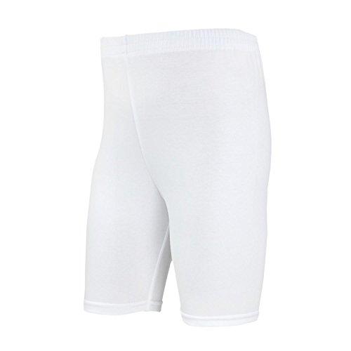 TupTam Mädchen Leggings Kurz Radlerhose, Farbe: Weiß, Größe: 128