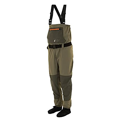 Frogg Toggs Hellbender Youth Breathable Stocking Foot Chest Wader, Large, New Sage