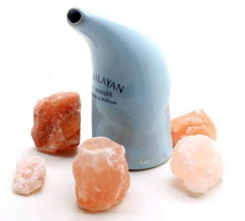 lazyfrog Salz Inhalator Rohr Natur Salz Therapie für Asthma und Allergien - Salz enthalten