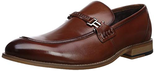 Stacy Adams Men's Duval Moc-Toe Slip-On Penny Loafer, Cognac 8.5 W US -