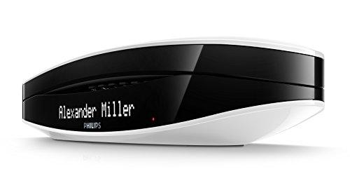 Philips M6651WB Luceo schnurloses Telefon mit Anrufbeantworter (4,6 cm (1,8 Zoll) Display, HQ-Sound) schwarz/weiß - 2
