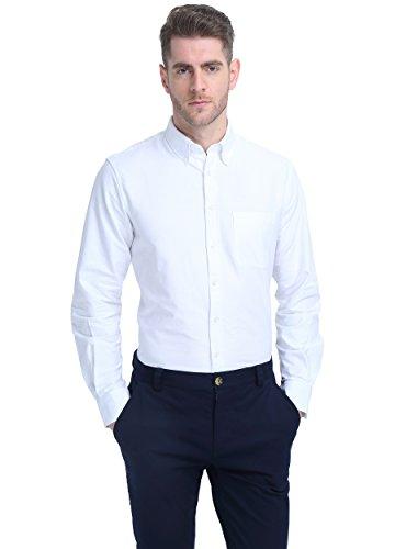 ATOUR Camisa Casual Para Hombre De Manga Larga Blanco M