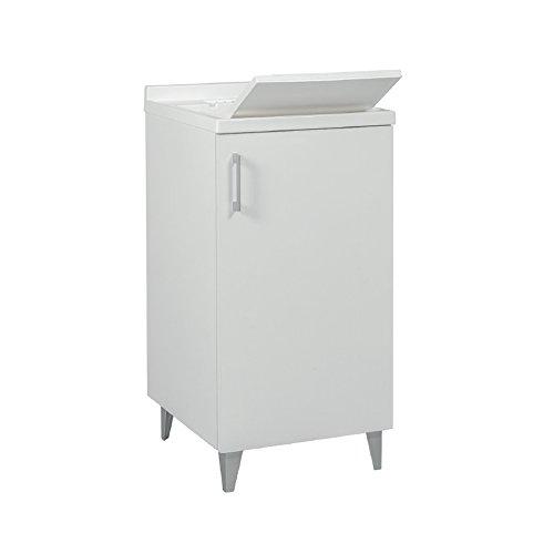 Divina home mobile lavatoio in legno 1 anta bianco l45x50x87 lavanderia dh53440