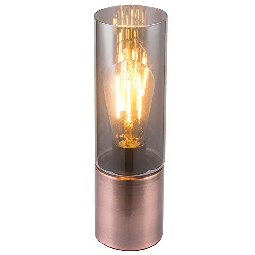 Tisch Leuchte Nacht Licht Kupfer Glas Lampe Touch Schalter Filament im Set inklusive LED Leuchtmittel - Kupfer-nacht-lichter