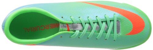 Nike Mercurial Victory IV TF Herren Fußballschuhe Grün (N Lm/Ttl Crmsn-Mtllc Slvr-Plrz 380)