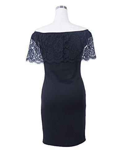 U8Vision Damen Abendkleid Elegant Off Schulter Cocktailkleid Retro ...