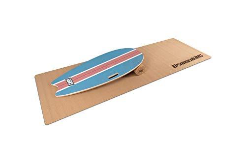 Surf Blue - Indoorboard Skateboard Surfboard Trickboard Balanceboard Balance Board (100 mm (Kork))