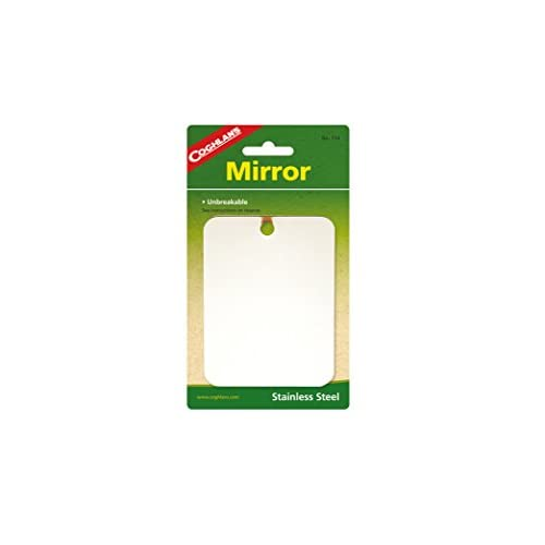 31V56zMo4EL. SS500  - Coghlans Camping Mirror, Unbreakable, Stainless Steel