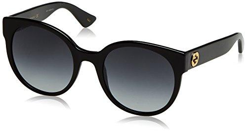 Gucci Damen GG0035S 001 Sonnenbrille, Schwarz (Black/Grey), 54