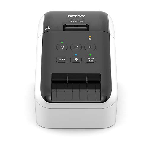 Brother QL-810W WLAN-Etikettendrucker (mit Rot-Schwarz-Druckfunktion, USB- und WLAN-Schnittstelle, automatische Schneideeinheit)