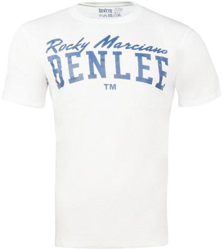 BENLEE Rocky Marciano Herren T-Shirt Trägerhemd Promo Shortsleeve Logo Weiß