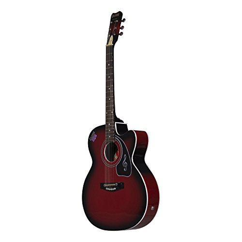 Givson Venus Special, 6-Strings, Acoustic guitar , Right-Handed, Red, With Guitar Cover/Bag  available at amazon for Rs.5200