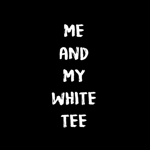 Me And My White Tee - Damen T-Shirt von Kater Likoli Deep Black