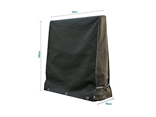 Anderlay Tavolo da Ping-Pong di Ping Pong Copertura Impermeabile Nero 165 × 70 × 185 cm