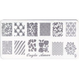 Plaque stamping full effect   ONGLE AMOR
