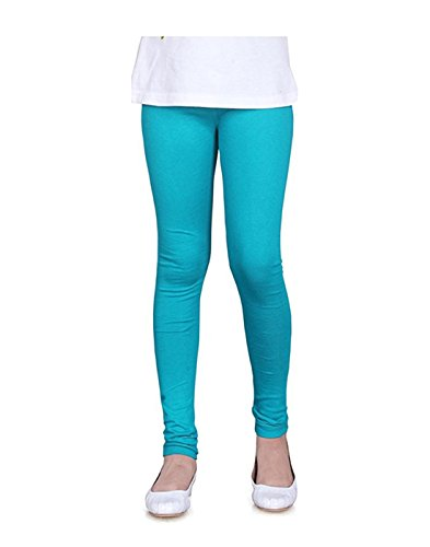 JISB Girls Cotton stretch legging, Green color (8-9 Years)