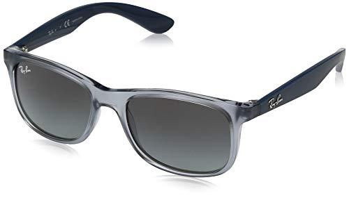 Ray-ban 0rj9062s occhiali da sole, marrone (transparente blue), 48.0 unisex-adulto
