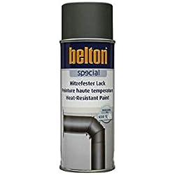 FONTE Hte Température 650 °C (BELTON) (Bombe Peinture 400 ml) - Peinture Auto K resistante Hautes températures entre 300 et 800 degrés C pour applications diverses.