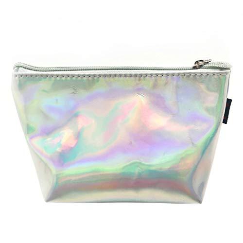 JERKKY Hologramm Holographische Bleistiftbeutel Reißverschlussbeutel Handtasche Makeup Laser Aufbewahrungstasche Silber - Lagerung Silber-münze