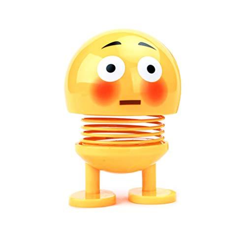 nce Elf Spielzeug,Smiley-Puppe Shake Head Puppe Niedliche Smiley Frühlingsspielzeug Emoji Süß Smiley Puppe Bounce Toys (C) ()