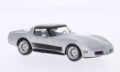 Chevrolet Corvette C3, silber, 1980, Modellauto, Fertigmodell, WhiteBox 1:43 (1980 Chevrolet)