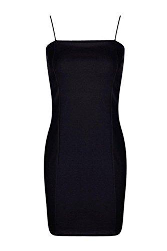 Damen Schwarz Petite Tia Bodyconkleid Aus Kreppstoff Mit Eckigem Ausschnitt Schwarz