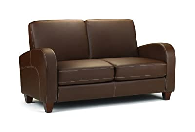 Julian Bowen Vivo Faux Leather 2 Seater Sofa, Brown