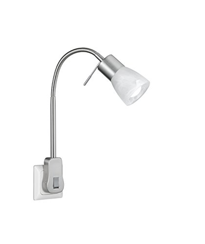 Trio Leuchten LED Steckerspot Metall E14, 5 W, Nickel Matt 22 x 4.7 x 40 cm