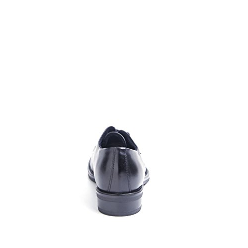 FRAU 98M1 chaussures noires femme lisse derby en cuir poli Nero