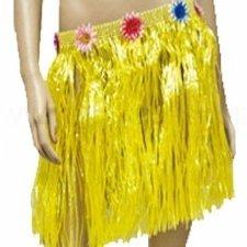 Falda-Hawaiana-Mini-Amarilla