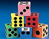 12 Large Foam Dice for Party Games | Birthday Loot Bag Filler Favours