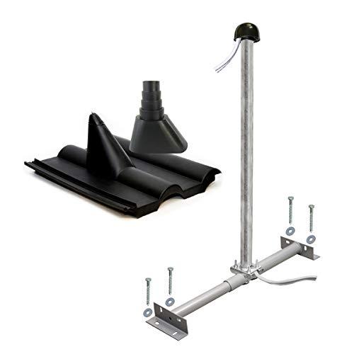PremiumX Basic Dachsparrenhalter-Montageset 100cm Mast Sparrenhalter für Satellitenschüssel Satelliten-Antenne | SAT Montagezubehör