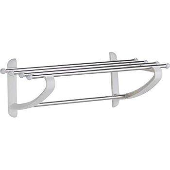 Wall mounted towel shelf rail rack.Bathroom shelving shelves rack ...