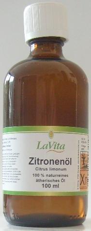 Zitronenöl - Zitrone 100ml - 100% naturreines ätherisches Öl