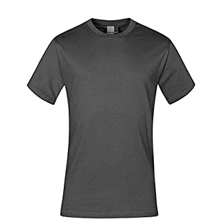 Premium T-Shirt Plus Size Herren, 4XL, Stahlgrau