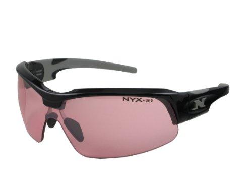 NYX Sport Vision Pro z-17Serie Sonnenbrille mit Z87.1Sicherheit Bewertung, black-gray Rahmen/, Zinnoberrot hell Sicherheit Objektiv, Medium