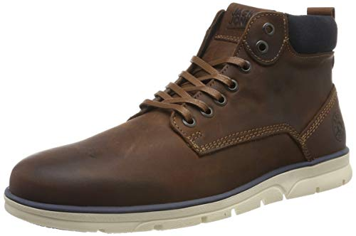 JACK & JONES Herren JFWTUBAR Leather Brandy STS Chukka Boots, Braun Brown, 42 EU -