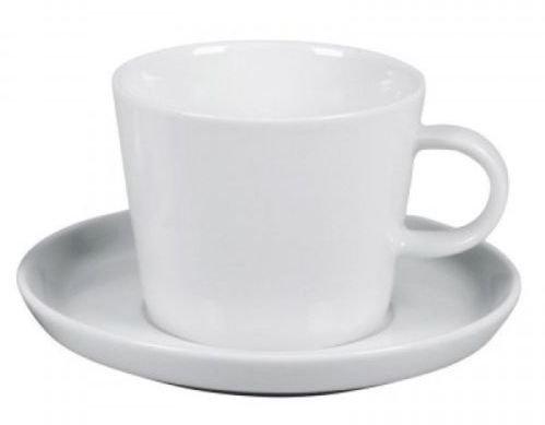 Arzberg Cucina Weiß Kaffeetasse 2tlg.Kaffee-Obertasse (0,22l),Kaffee-Untertasse (15cm) Tasse