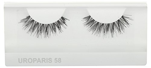 UROPARIS False Eyelashes for Women, 58, Black