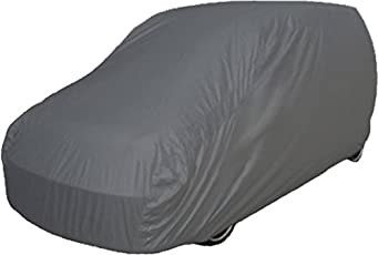TGP Group Grey Colour Durable Water Resistant Car Body Cover with Heavy Duty Buckle and Storage Bag for Mahindra KUV 100