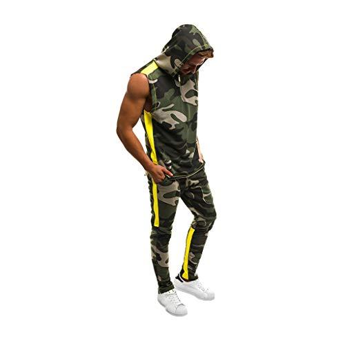 UINGKID Herren Jogginganzug Trainingsanzug Overall Jumpsuit Shirt Hose Fitness Männer Set Jogger Camo Slim Fit Hoodies (Halloween-dress-code Für Männer)